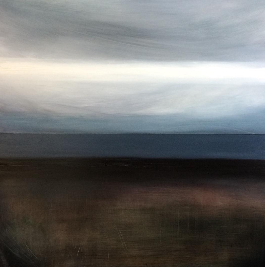 'Cleave' Oil on Aluminium. 2 x (50/100cm) landscape painting Landscape artist contemporary Norfolk