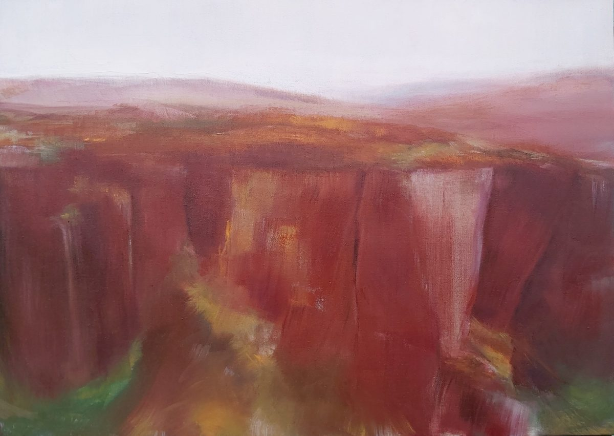 'Higger Tor' Oil on Linen. 50/70cm. 2020 Contemporary British Landscape Painting