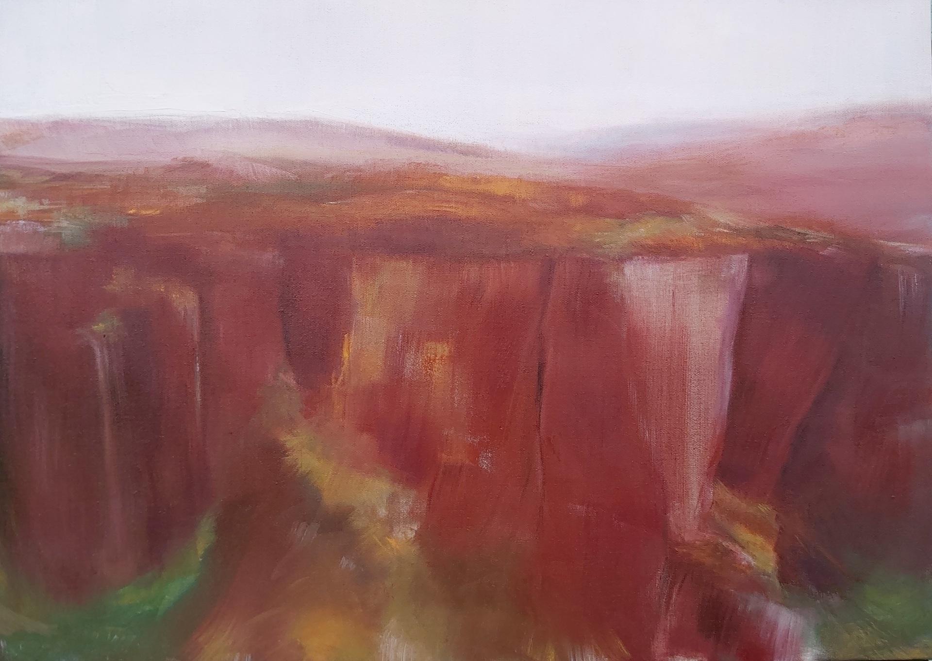 'Higger Tor' Oil on Linen. 50/70cm. 2020 Contemporary British Landscape Painting