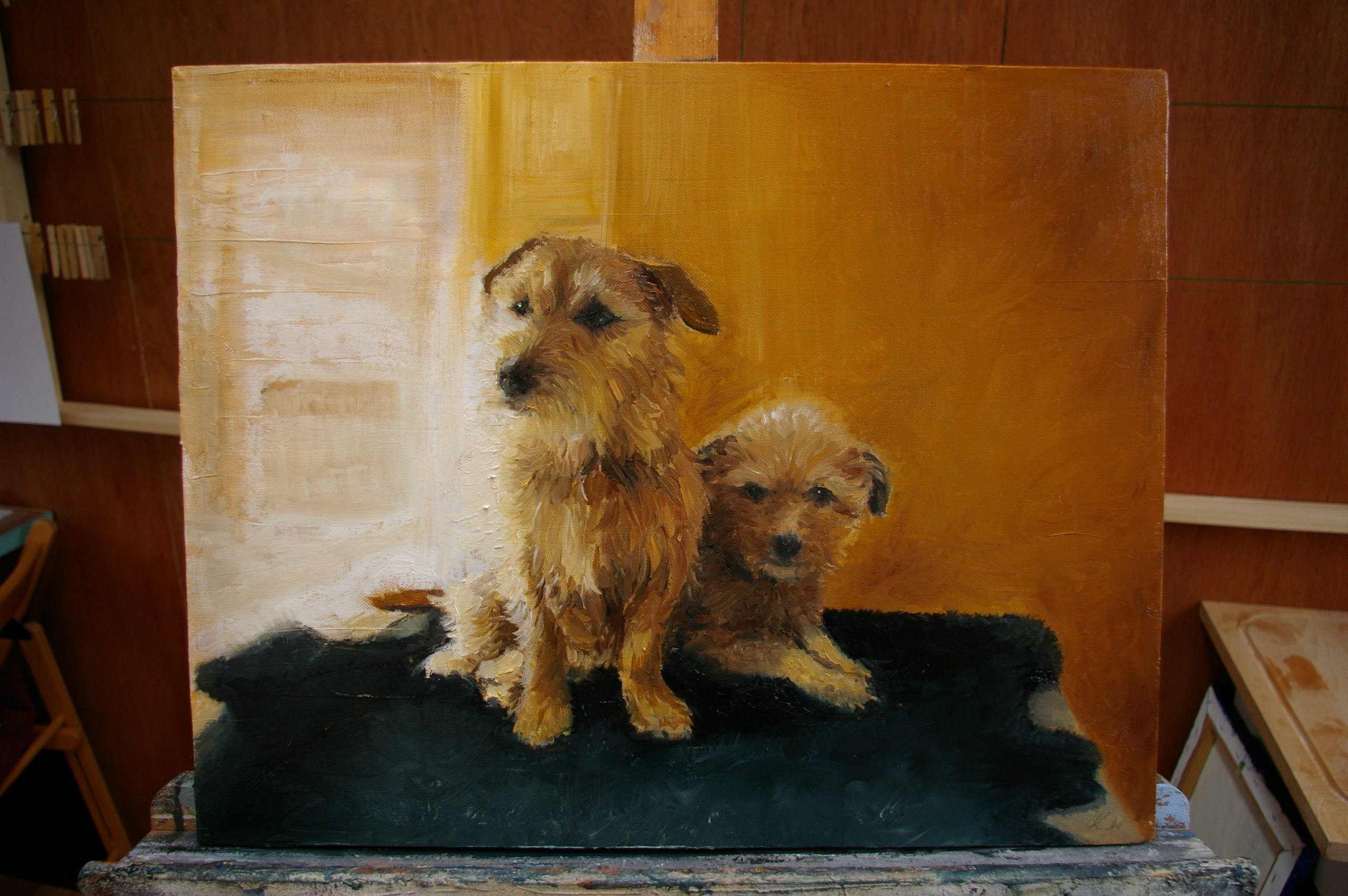 Dog Portrait. Oil in Canvas