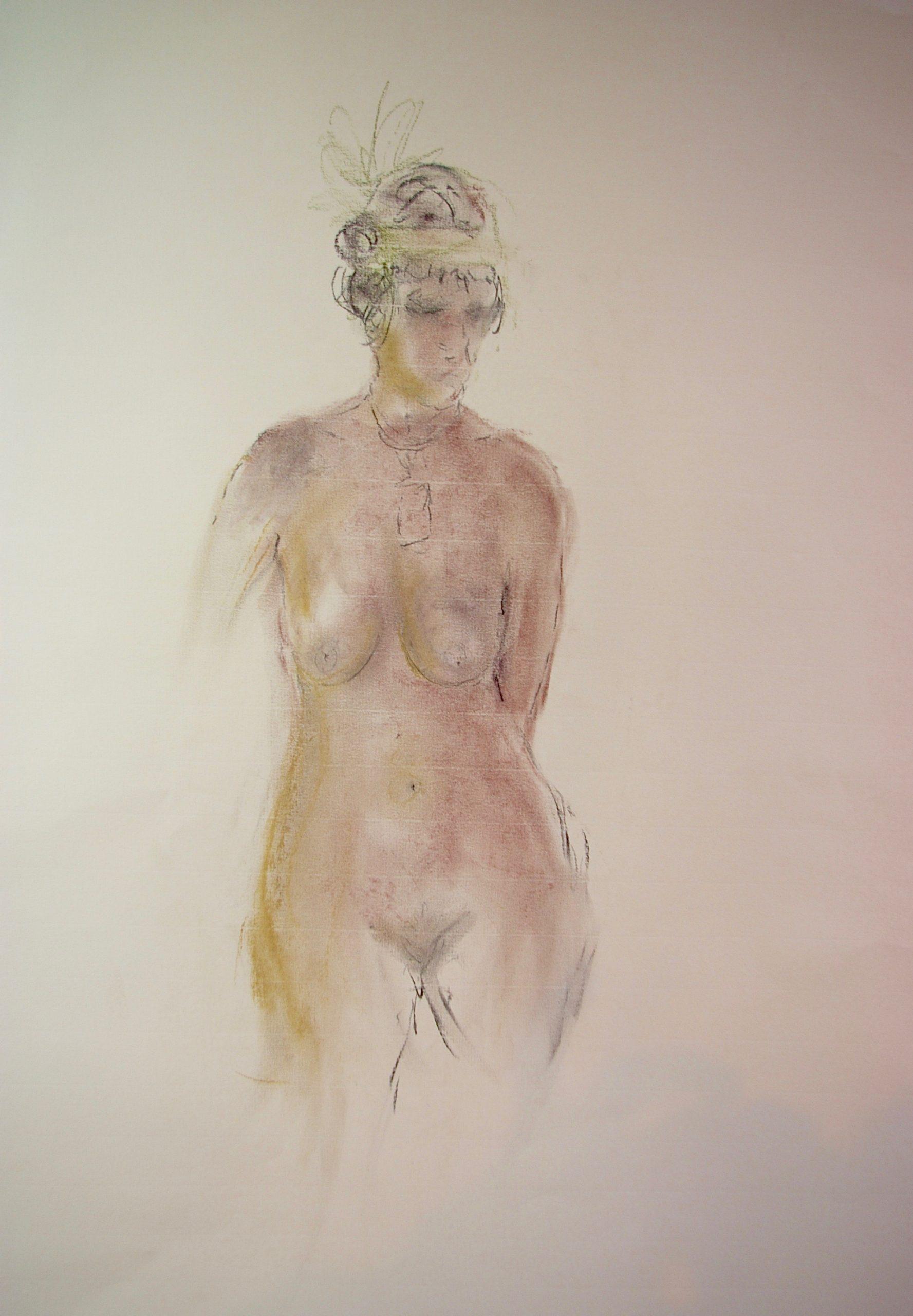 Charleston Nude, Coloured Charcoal. Life Drawings