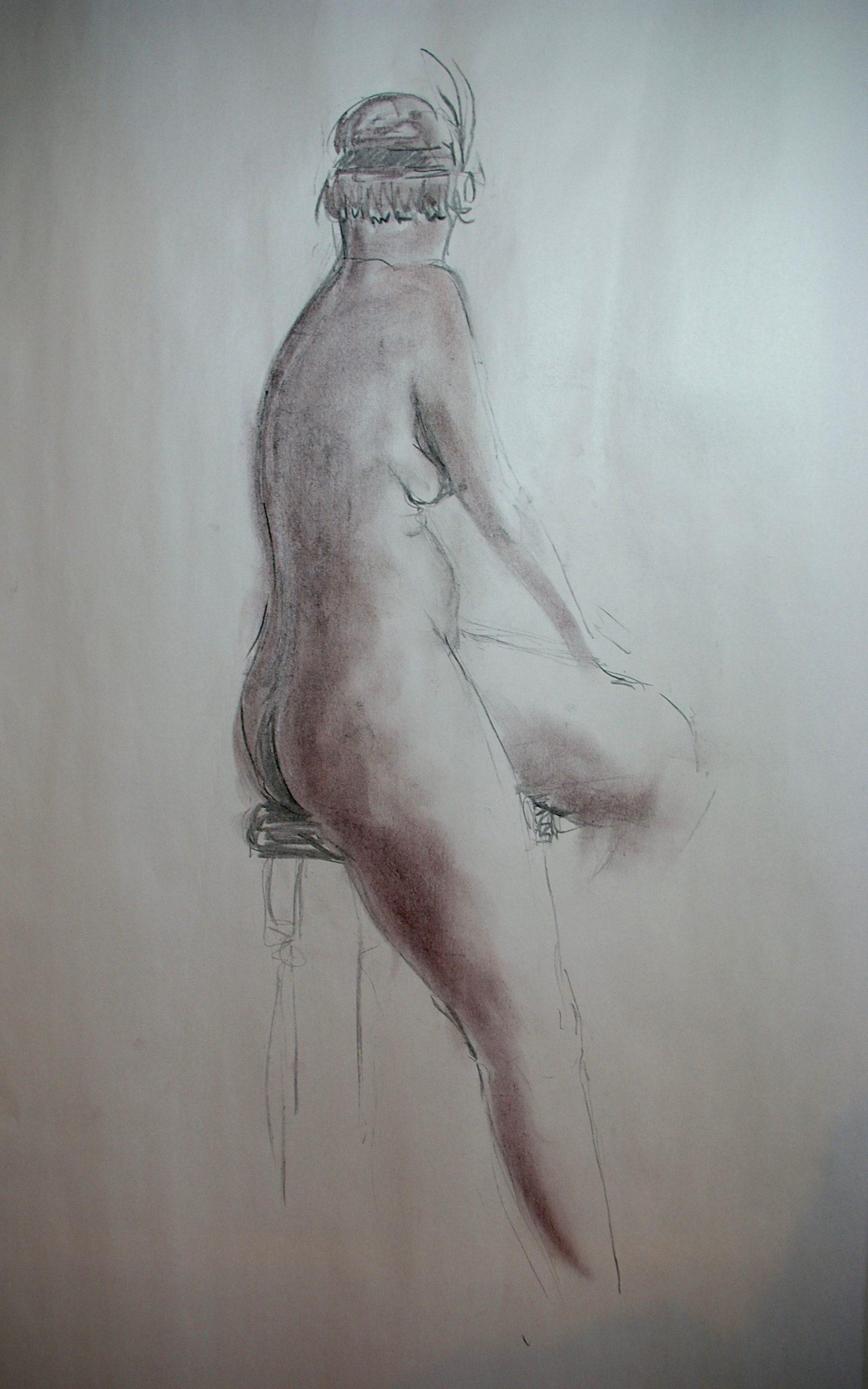 1920's Nude. Charcoal. Life Drawings