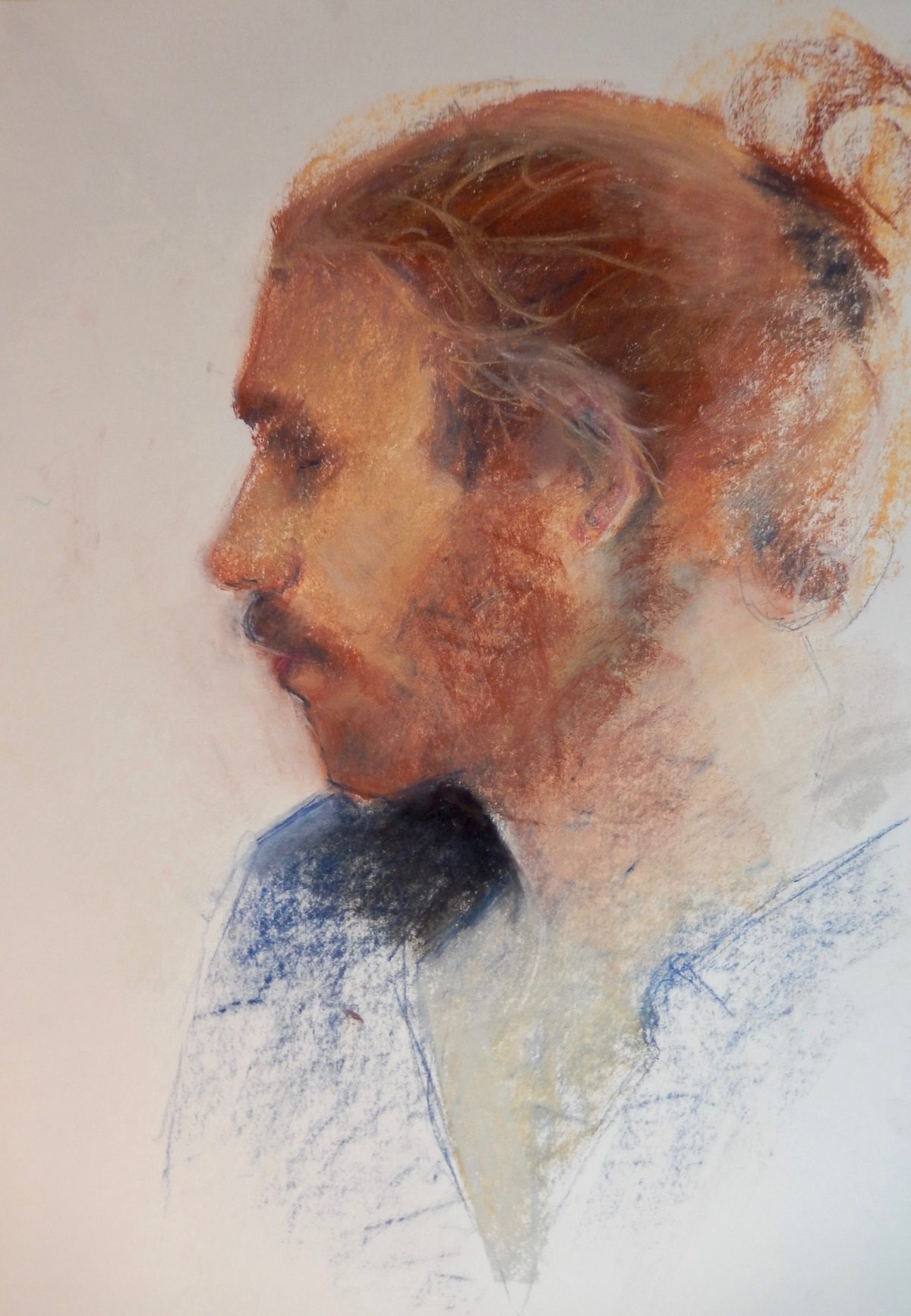 Jack. Pastel and Conte on Paper. Life Drawing. Portraiture Beccles.