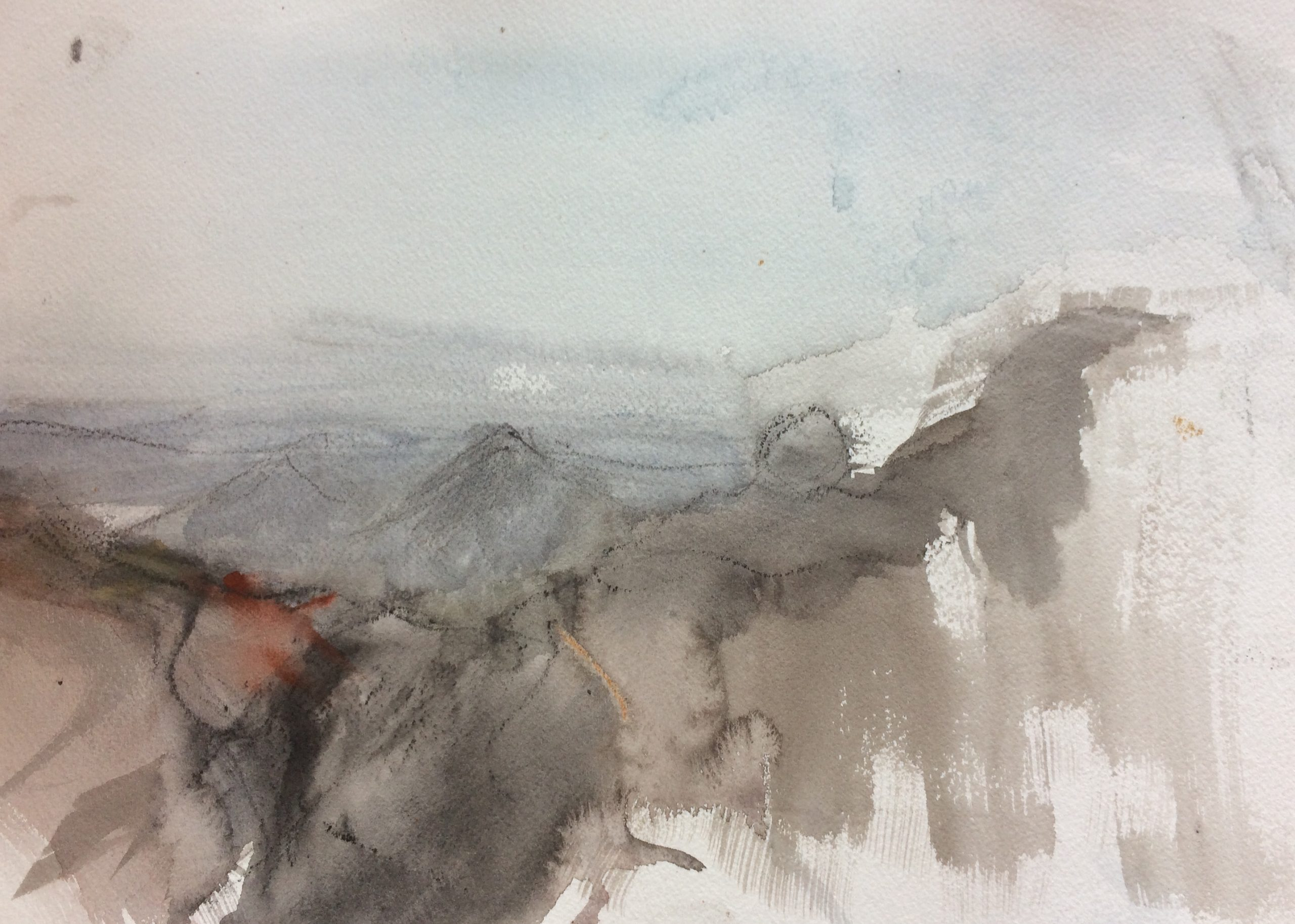 Kinder Scout. Watercolour and Graphite on Paper. 30/40cm. 2018