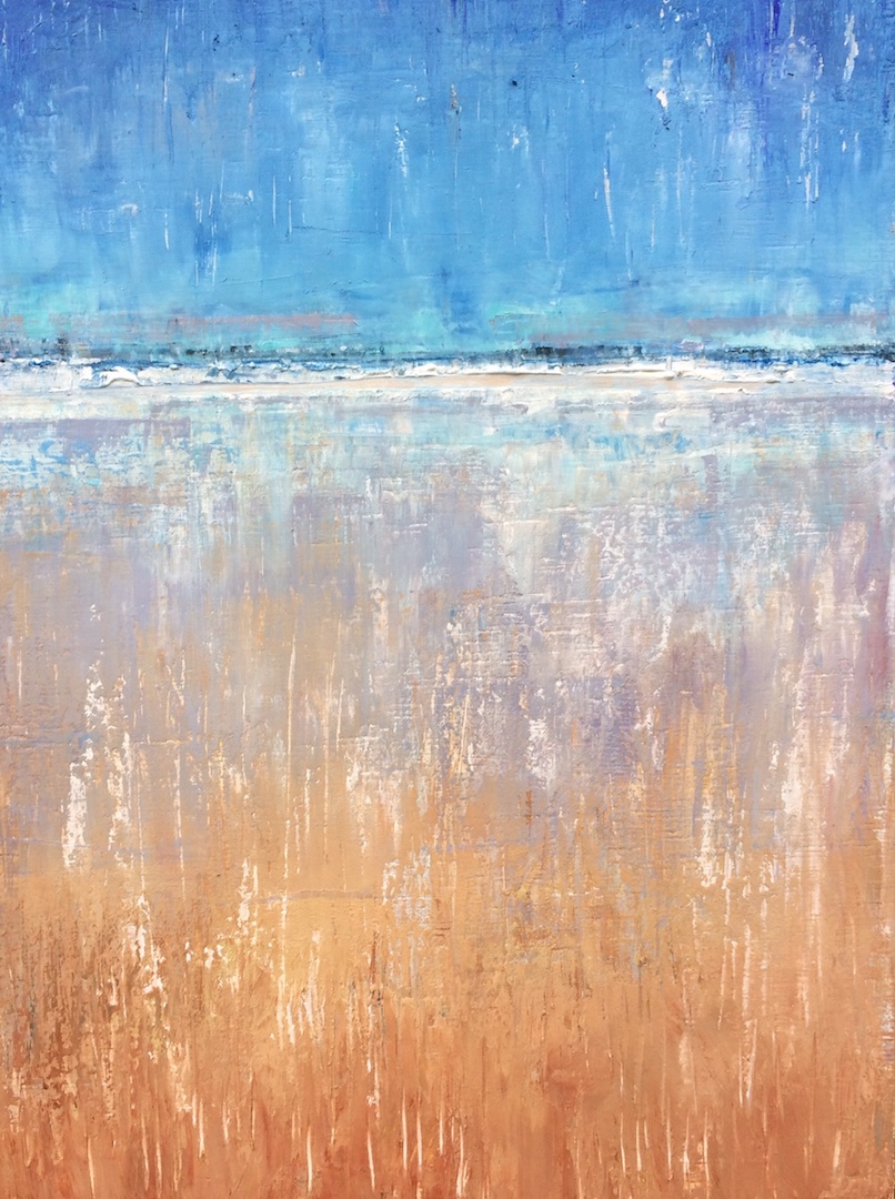 Waves and Wind, Wind and Waves. Acrylic on Board. 30/40cm. 2017 kate walker suffolk norfolk artist landscape commission