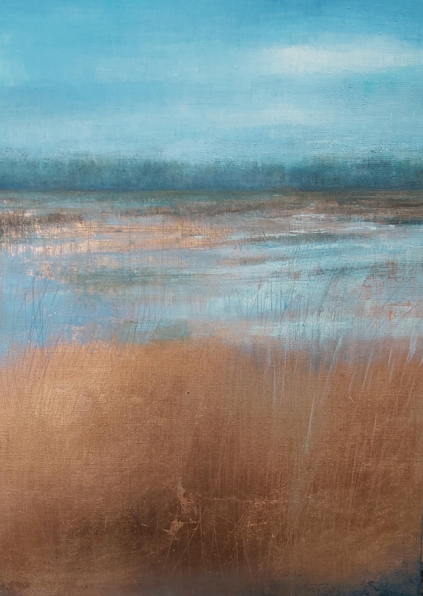 Marsh Flood. Oil on Linen. 50/70cm. 2020. Norfolk Broads Art Artist Landscape Painting