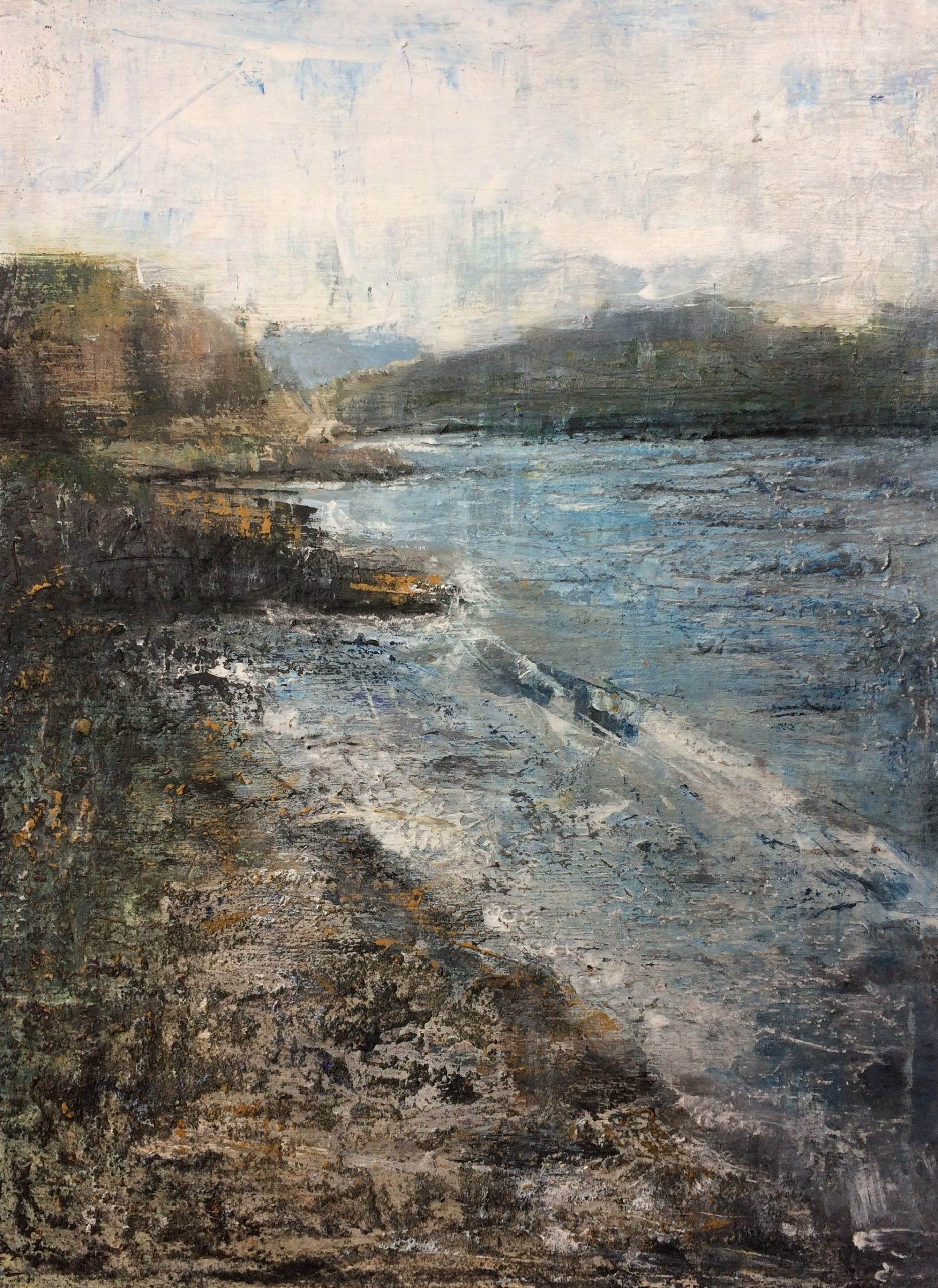 Isle Of Mull. Mixed Media on Board. 30/40cm. Landscape painting. Acrylic on Board.
