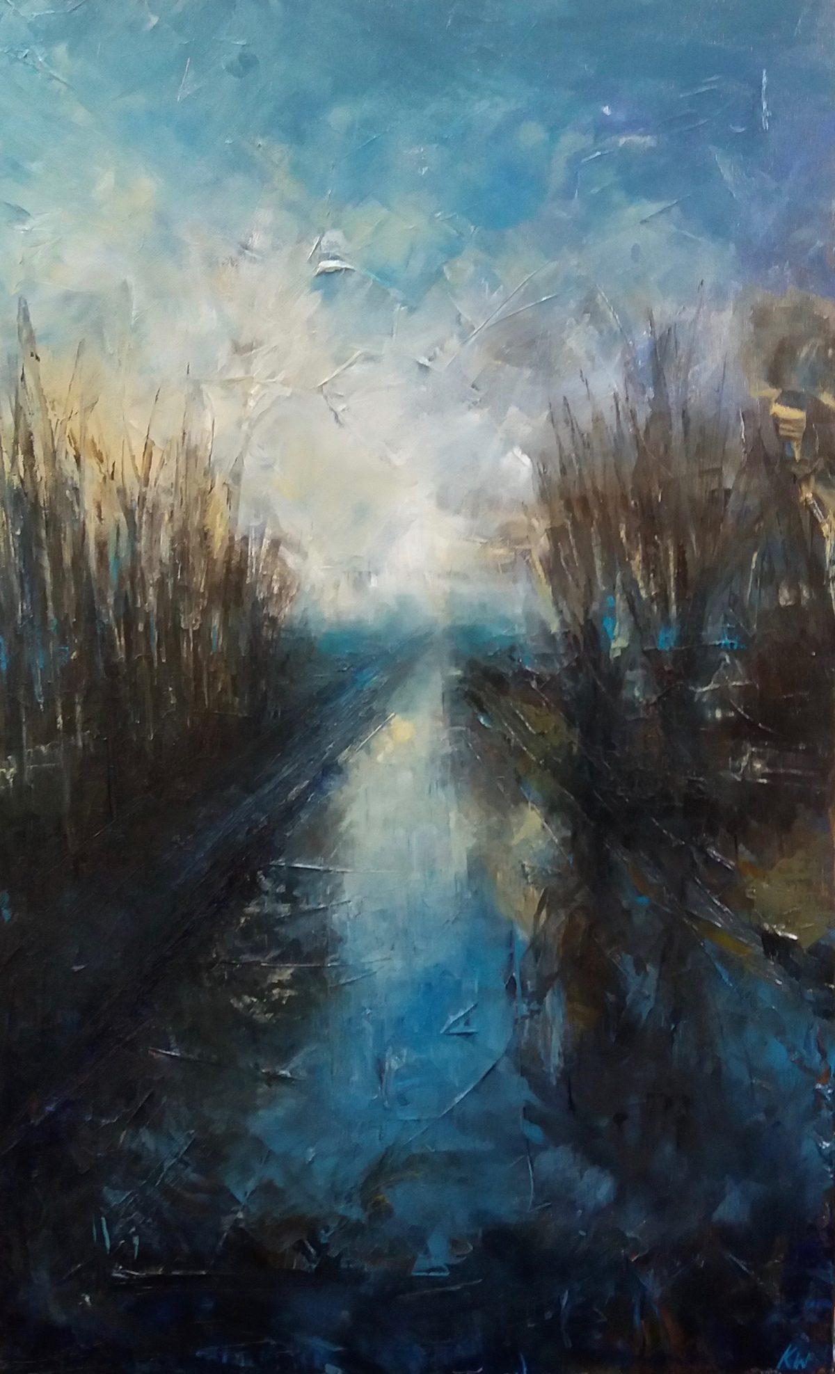 River Waveney. Oil on Canvas. 50/80cm. Oil Landscape. Geldeston. Waveney Valley. Beccles.