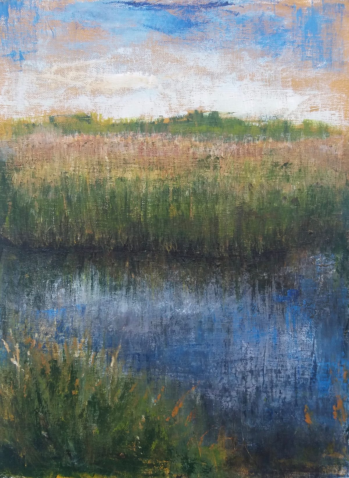 Strumpshaw Fen Oil Sketch on board. 30/40cm Landscape oil painting