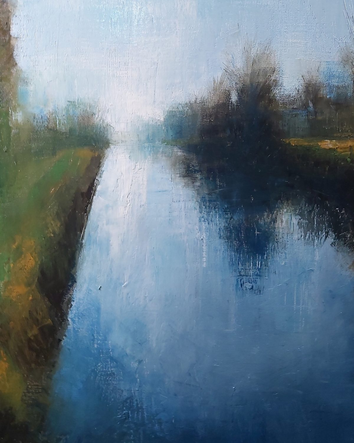 The Cut. 50/70cm. Oil on Linen. 2020. Landscape painting Norfolk Broads Beccles Art