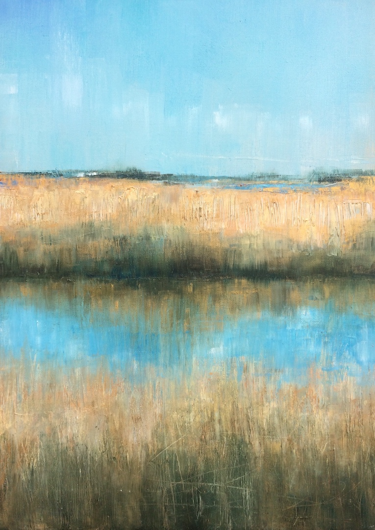 Walberswick Reed. Oil on Linen. 50:70cm. 2018 artist landscape painting painter commission Beccles Norfolk