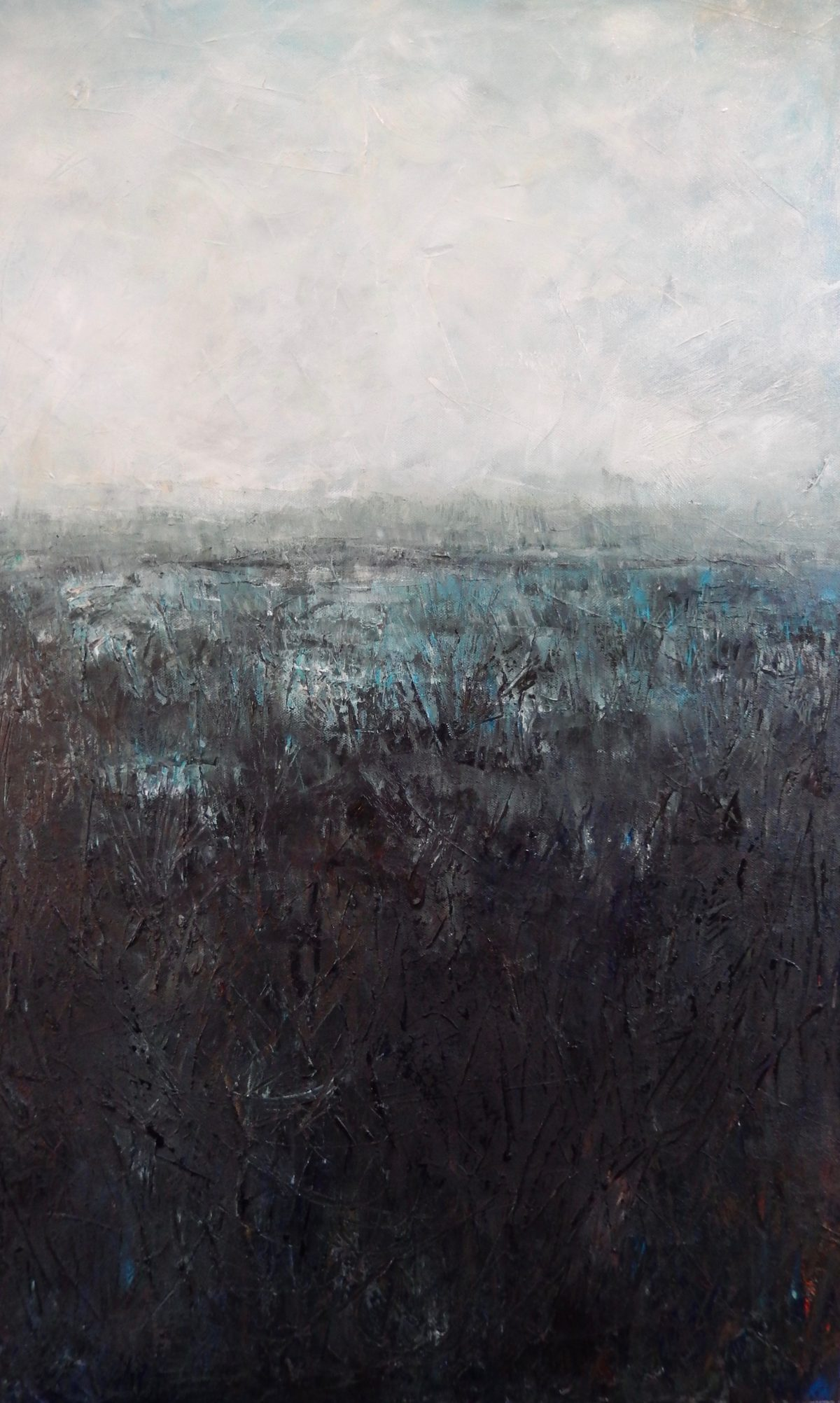 Frosty marsh. Oil on Canvas. 2016. 50/80cm. Geldeston