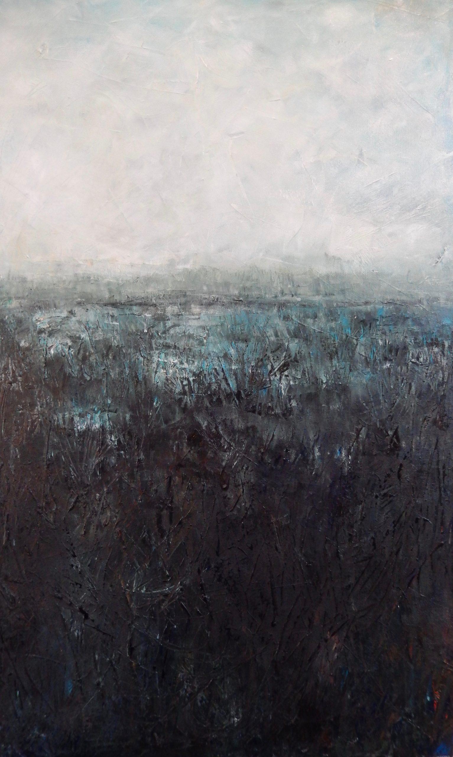 Frosty marsh. Oil on Canvas. 2016. 50/80cm. Geldeston