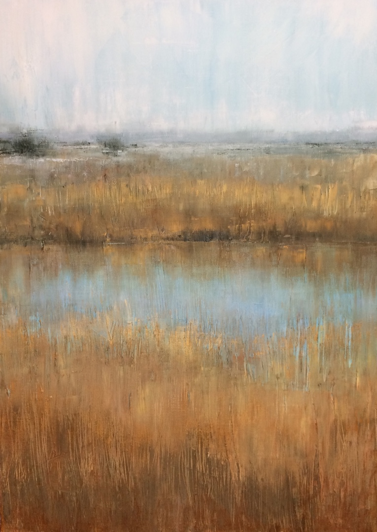Minsmere Reeds. Oil on Linen. 50/70cm. 2018. Suffolk landscape painting artist